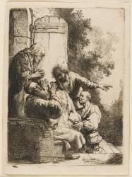 Jacob pleurant la mort de son fils Joseph (Rembrandt Harmensz van Rijn) - Muzeo.com