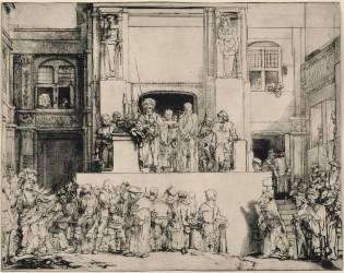 Jésus-Christ présenté au peuple ; 5ème état (Rembrandt Harmensz van Rijn) - Muzeo.com