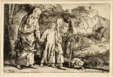 Jésus ramené du Temple (Rembrandt Harmensz van Rijn) - Muzeo.com