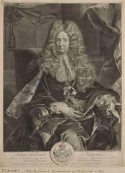 Jules Hardouin-Mansart (1645-1708), Architecte, Surintendant des Bâtiments du Roi (Edelinck Gérard) - Muzeo.com