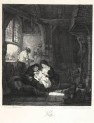 La Famille du menuisier d'après Rembrandt (Leroy Alphonse-Alexandre ,...) - Muzeo.com