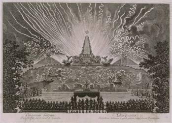 La Fête donnée par Louis XIV pour célébrer la reconquête de la Franche-Comté, à Versailles en 1674 (Le Pautre Jean) - Muzeo.com