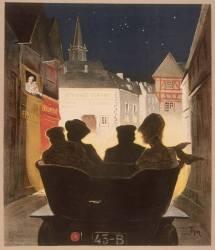 L'arrivée dans le village la nuit (Thor Walter) - Muzeo.com