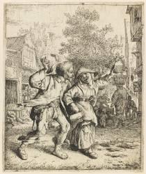Le couple ivre (Dusart Cornelis) - Muzeo.com