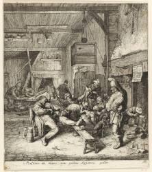 Le joueur de violon assis (Dusart Cornelis) - Muzeo.com