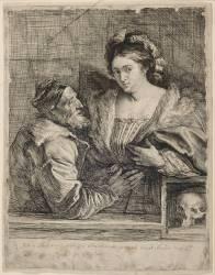 Le Titien et sa maîtresse; 1 er état (Van Dyck Antoon) - Muzeo.com