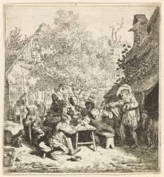 Le violon debout (Dusart Cornelis) - Muzeo.com