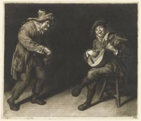 Les joueurs d'instruments (Dusart Cornelis) - Muzeo.com