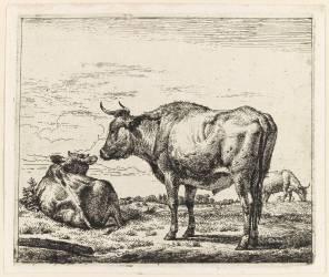 Les trois boeufs (Van de Velde Adriaen) - Muzeo.com