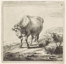 Les vaches à la laitière (Berchem Claesz Pietersz) - Muzeo.com