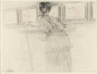 Les Watteau du Louvre (Helleu Paul César) - Muzeo.com