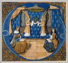 Louis XII et Anne de Bretagne en prière (anonyme) - Muzeo.com