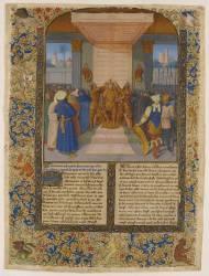 Page enluminée : le couronnement d'Alexandre (Fouquet Jean;anonyme) - Muzeo.com