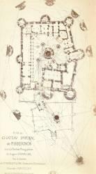 Plan du château impérial de Pierrefonds (Chevallier Auguste...) - Muzeo.com