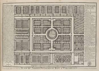 Planche 133: plan du Potager royal de Versailles (Perelle, famille des) - Muzeo.com