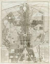 Planche 474 : plan général de la ville, du château et des jardins et parc de Versailles nouvellement (Jacques-François Blondel) - Muzeo.com