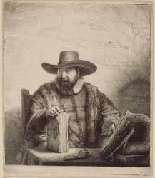 Portrait de Corneille Klaas Anslo ; 1er état (Rembrandt Harmensz van Rijn) - Muzeo.com
