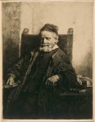 Portrait de Jan Lutma ; 1er état (Rembrandt Harmensz van Rijn) - Muzeo.com