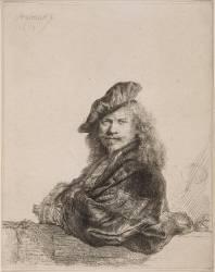 Rembrandt appuyé (Van Rijn Rembrandt Harmensz) - Muzeo.com