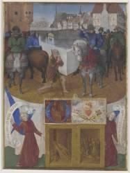 Saint Martin partageant son manteau (Fouquet Jean;anonyme) - Muzeo.com