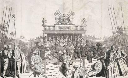Tournoi ou Béhourd, en 1581 (Carré Jean Baptiste Louis) - Muzeo.com