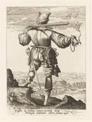 Un mousquetaire avec le mouvion (Gheyn Jacob II de) - Muzeo.com