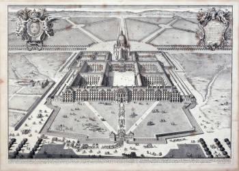 Vue en perspective de l'Hôtel royal des Invalides (Pierre Lepautre) - Muzeo.com