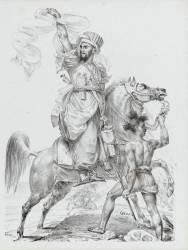 Chef mamelouk à cheval (Gros Antoine-Jean, Baron) - Muzeo.com
