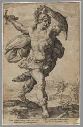 Cycle des Héros romains : Horatius Coclès (Goltzius Hendrick) - Muzeo.com
