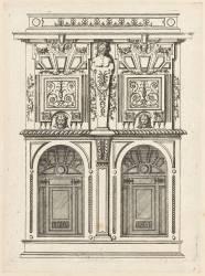 Estampe représentant une armoire à deux corps (Ducerceau Androuet Jacques) - Muzeo.com