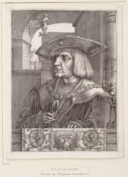 Portrait de l'empereur Maximilien Ier (1459-1519) (Lucas de Leyde (dit), van...) - Muzeo.com