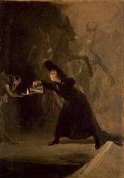 A Scene from 'El Hechizado por Fuerza' (De Goya Francisco) - Muzeo.com