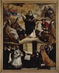 Apotheosis of Saint Thomas Aquinas (Francisco de Zurbaran) - Muzeo.com