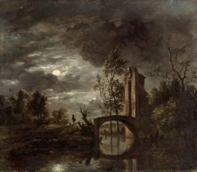 Paysage au clair de lune (Simon Mathurin Lantara) - Muzeo.com