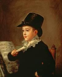 Portrait of Marianito Goya, Grandson of the Artist (Francisco de Goya) - Muzeo.com