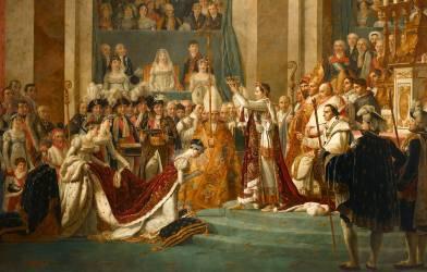 Sacre de l'empereur Napoléon et couronnement de l'impératrice Joséphine (Jacques Louis David) - Muzeo.com