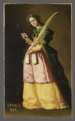 Saint Apollonia (Francisco de Zurbaran) - Muzeo.com