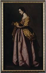 Saint Dorothea (Francisco de Zurbaran) - Muzeo.com