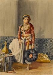 Algerian Moorish in interior costume (Marquette Emile) - Muzeo.com