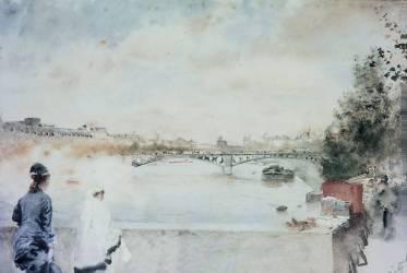 Along the Seine (Giuseppe de Nittis) - Muzeo.com