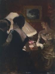 Around the Lampshade (Giuseppe de Nittis) - Muzeo.com