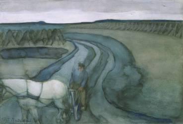 At Work: in the Fields (Mondrian Piet) - Muzeo.com