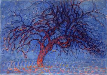 Avond (Evening): The Red Tree (Mondrian Piet) - Muzeo.com