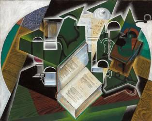 Book, Pipe et Verres (Juan Gris) - Muzeo.com
