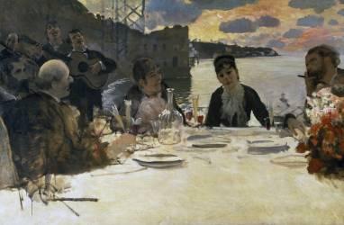 Breakfast at Posillipo (Giuseppe de Nittis) - Muzeo.com