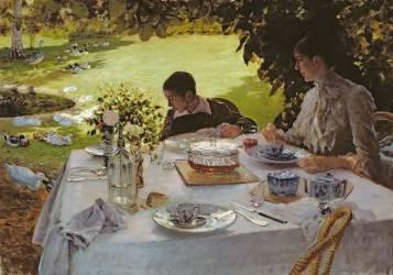 Breakfast in the Garden (Giuseppe de Nittis) - Muzeo.com