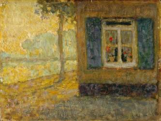 Chemin du canal à Gravelines (Henri Le Sidaner) - Muzeo.com