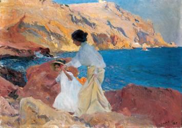 Clotilde and Elena on the Rocks (Sorolla y Bastida Joaquin) - Muzeo.com