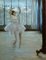 Dancer in Front of a Window (Dancer at the Photographer's Studio) (Edgar Degas) - Muzeo.com