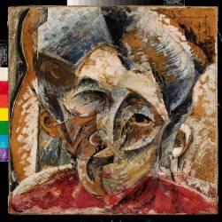 Dynamism of a Woman's Head (Dinamismo di una testa di donna) (Umberto Boccioni) - Muzeo.com